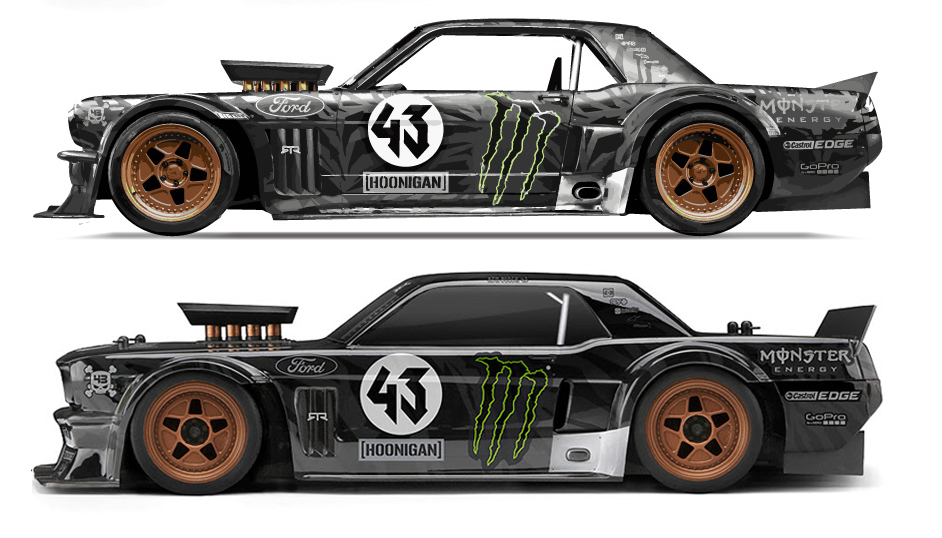 here s how hpi s hoonicorn stacks up against ken block s full size ride rc car action. Black Bedroom Furniture Sets. Home Design Ideas
