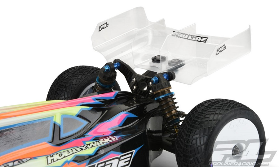"Pro-Line Air Force 2 Lightweight 6.5"" Clear Rear Wing With Center Fin"