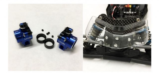 Schelle B6.1 Aluminum Rear Hubs & Low Front Wing Mount