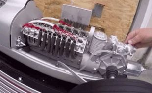 WORKING V16 Engine in this 1/3 Scale GP Car! [VIDEO]