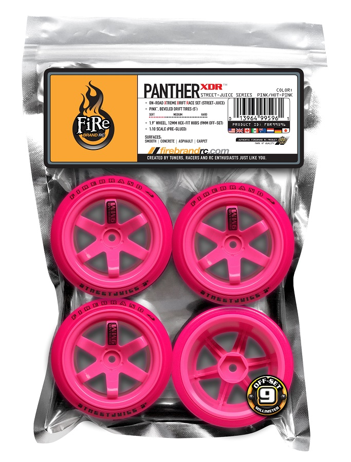 FireBrand PANTHER-XDR 5˚ Beveled Drift Tires