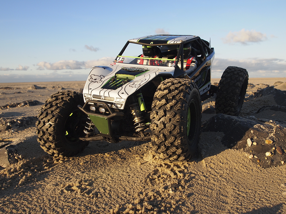 Axial Yeti XL, Monster Energy, B.J. Baldwin, Trophy Truck, Tribute, Rock Racer