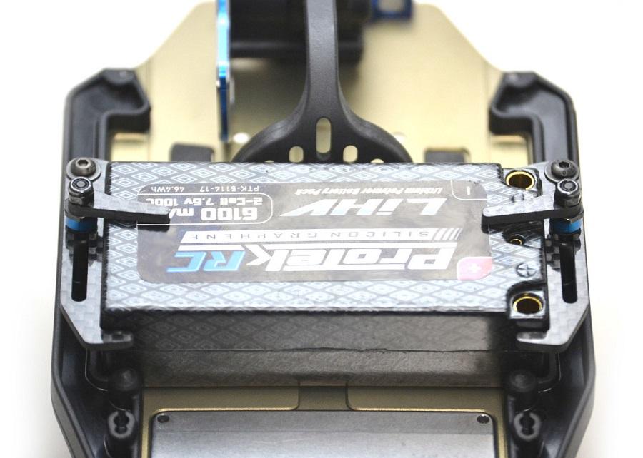 Exotek Carbon Fiber LiPo Tabs & Cups Set For The B6.1, B6, T6.1 & SC6.1