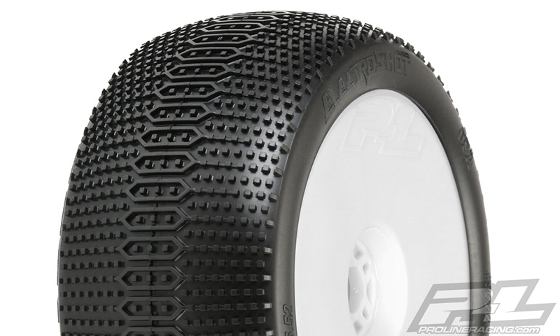 "Pro-Line Pre-Mounted Electroshot VTR 4.0"" Off-Road 1/8 Truggy Tire"