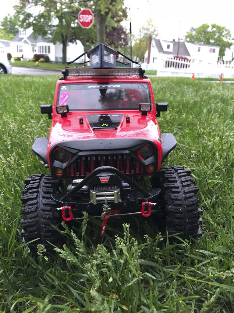 Axial SCX10 II, Jeep JK, Wrangler, Unlimited, Rubicon, Mudslinger tires, Yeah Racing, Warn, MyTrickRC, Boom Racing,