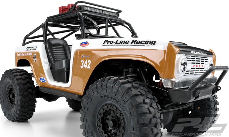 Pro-Line 1966 Ford Bronco Clear Body With Ridge-Line Trail Cage