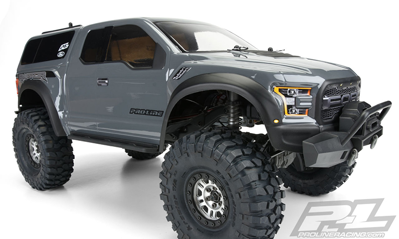 2017 Ford F 150 4x4 >> Pro-Line 2017 Ford F-150 Raptor Clear Body For The Traxxas TRX-4 - RC Car Action
