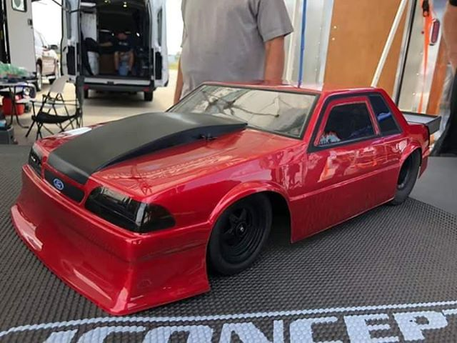 Sneak Peek: JConcepts 1991 Ford Mustang Drag Car Body, Startec Wheels & Hotties Tires