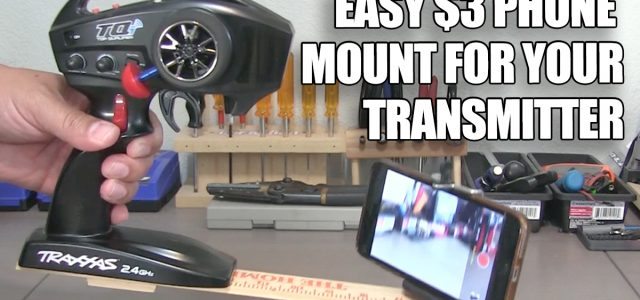 How to Make a Transmitter Phone Mount for About Three Bucks