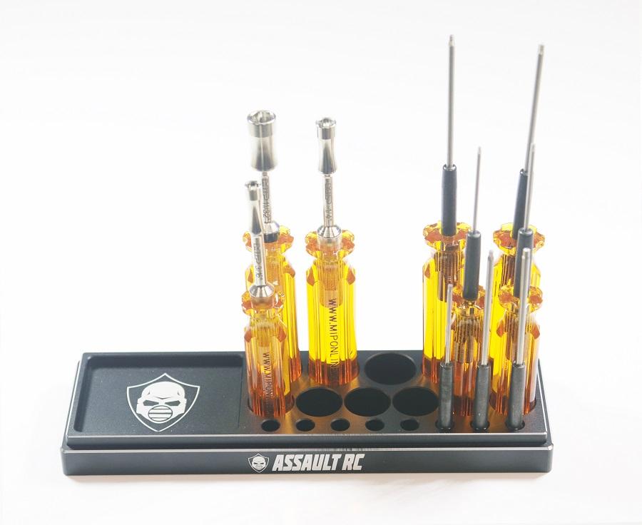 Assault RC Billet Aluminum Tool Stand & Parts Tray