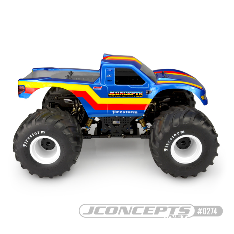 JConcepts 2010 Ford Raptor Monster Truck Clear Body