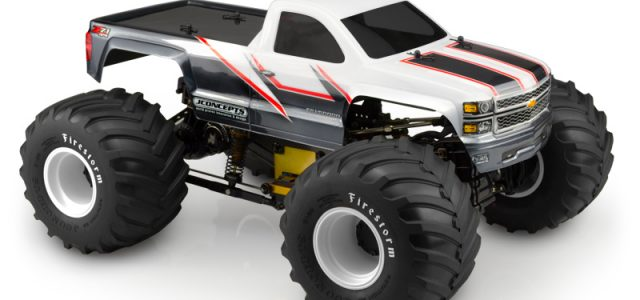 JConcepts 2014 Chevy 1500 Monster Truck Clear Body