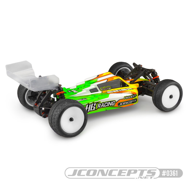 JConcepts F2 Clear Body For The HB Racing D418