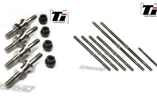 Lunsford Titanium Turnbuckles & Shock Mounts For The Tekno ET410