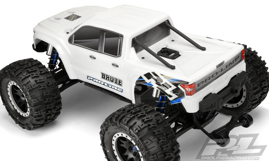 Pro-Line Pre-Cut Brute Bash Armor Body (White) For The Traxxas X-MAXX