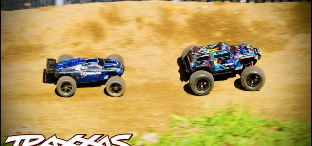 Traxxas 1/16 E-Revo & Summit Take On Woodward West [VIDEO]