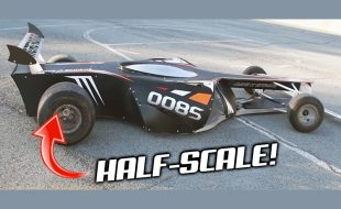 Scratch-Built HALF-SCALE F1 Car, Whoa! [VIDEO]