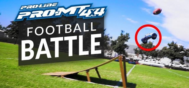 Football RC Battle With The Pro-Line PRO-MT 4×4 [VIDEO]