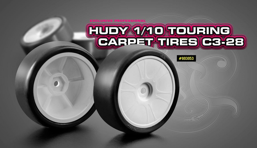 HUDY C3-28 1/10 Touring Car Carpet Tire