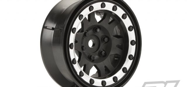 Pro-Line Impulse 1.9″ Black/Silver Plastic Internal Bead-Loc Wheels