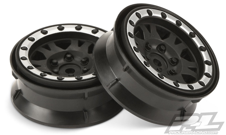 Pro-Line Impulse 1.9 Black_Silver Plastic Internal Bead-Loc Wheel