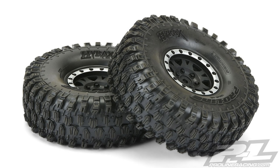 Pro-Line Mounted Hyrax 1.9 G8 Rock Terrain Truck Tires