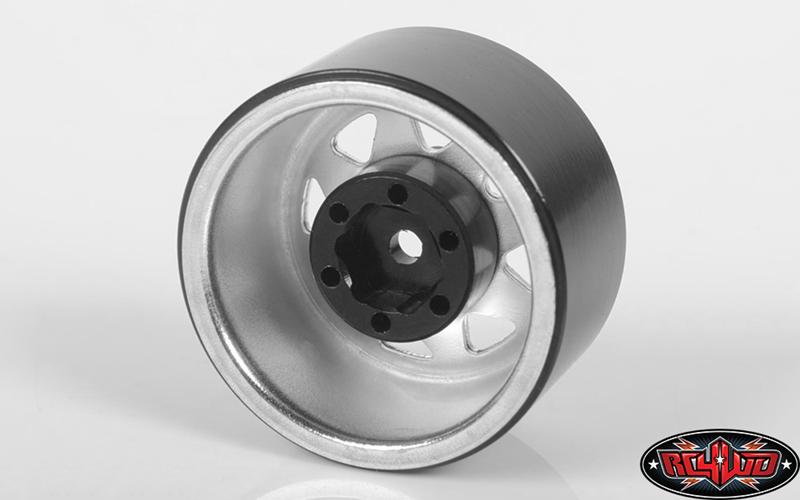 "Stamped Steel 1.0"" Stock Beadlock Wheels (Chrome)"