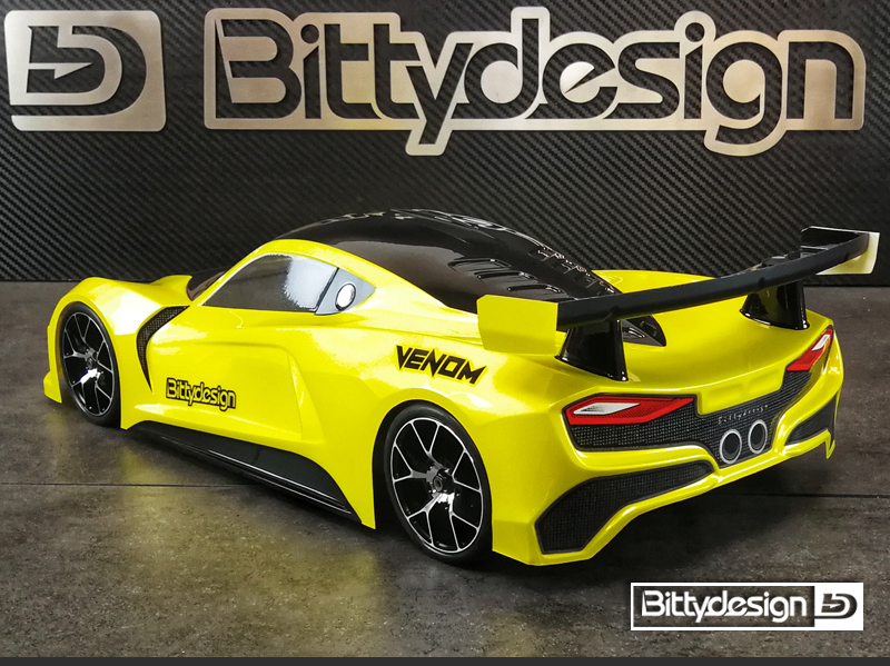 Bittydesign Venom 1/10 GT 190mm Clear Body