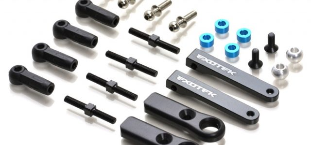 Exotek Adjustable Upper Arm Set For The Tamiya TRF103