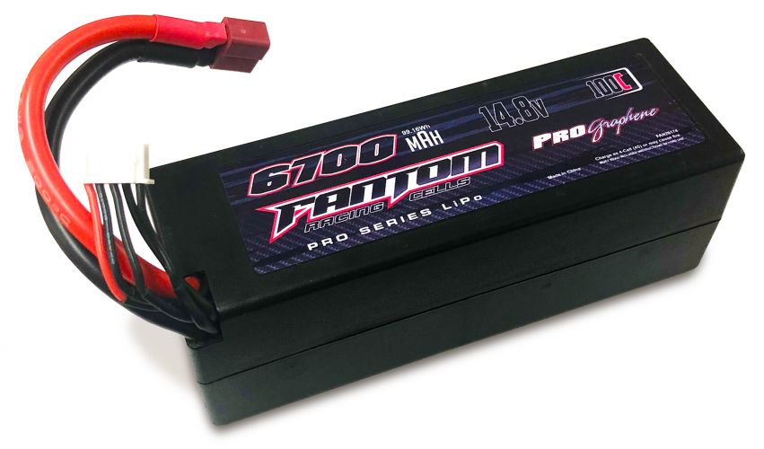 Fantom 6700mAh 100-160C 14.8v 4-Cell Pro Series Graphene LiPo