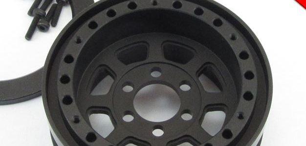 Locked Up RC 1.9″ TrailReady HD SLW Wide Black Lightweight Wheels