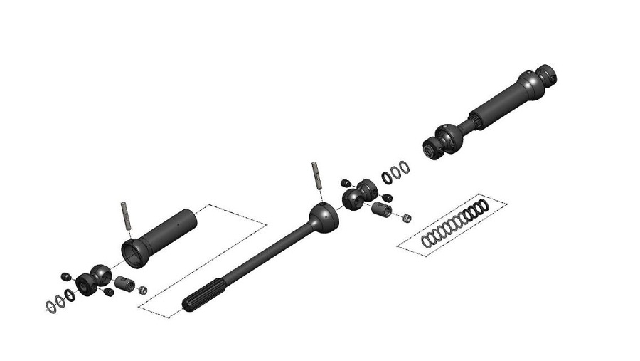 MIP X-Duty Center Drive Kit For The Axial SCX10 II