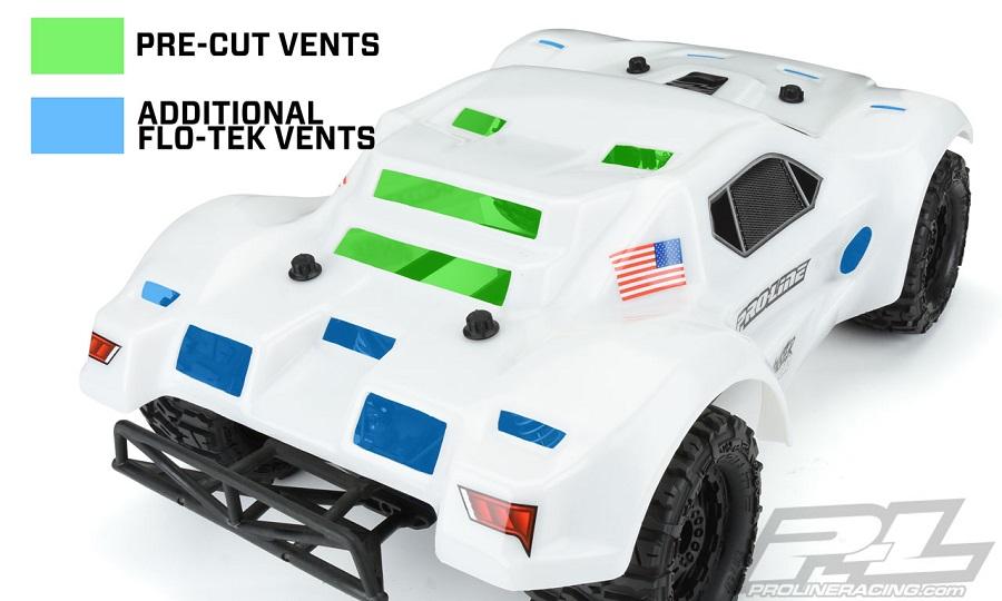 Pro-Line Monster Fusion Bash Armor Body For SC (White)