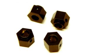 STRC CNC Machined Brass +3mm Off-Set Hex Adapters For The Traxxas TRX-4