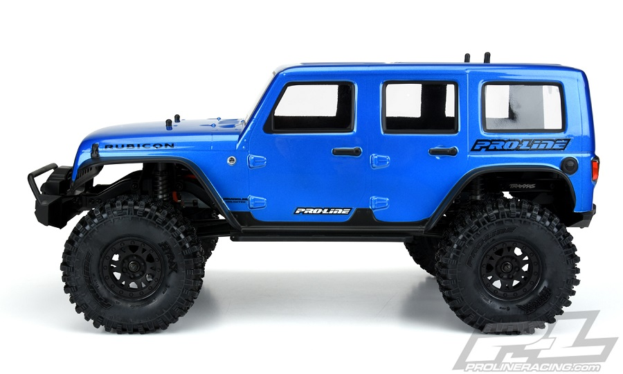 Pro-Line Pre-Painted & Cut Jeep Wrangler Unlimited Rubicon Blue Body