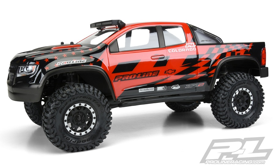 Pro Line Chevy Colorado Zr2 Clear Body Rc Car Action