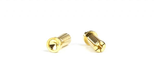 Avid Low Profile 5mm Gold Battery Bullets