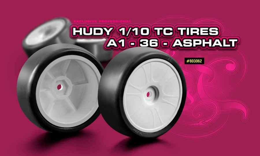 HUDY A1-36 1/10 Touring Car Asphalt Tires
