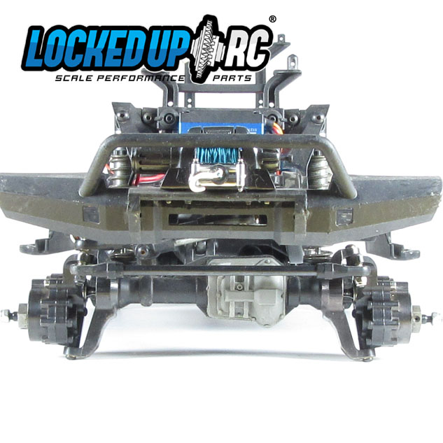 Locked Up RC TRX-4 Black Steel Portal Knuckles