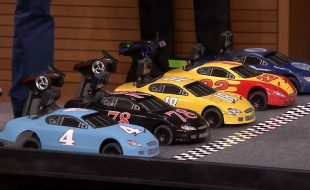 NASCAR Stars Race RC On The Tonight Show