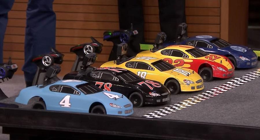 NASCAR Stars Race RC On The Tonight Show