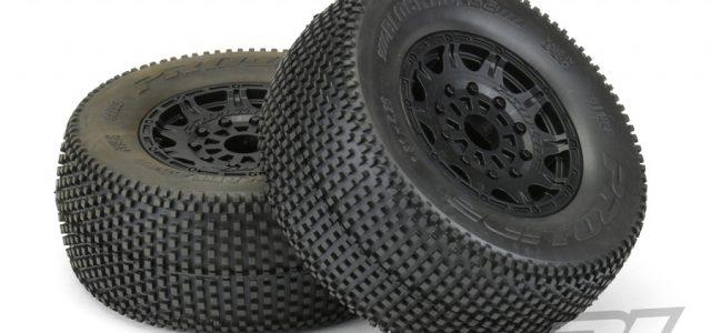 Pro-Line Blockade SC 2.2″/3.0″ Tires Mounted On Raid Black 17mm Wheels