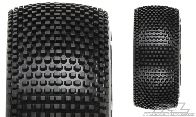 "Pro-Line Blockade SC 2.2""/3.0"" Tires Mounted On Raid Black 17mm Wheels"