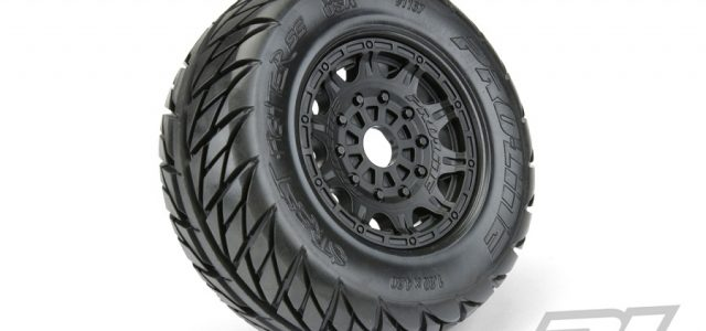 Pro-Line Street Fighter SC 2.2″/3.0″ Tires Mounted On Raid Black 17mm Wheels