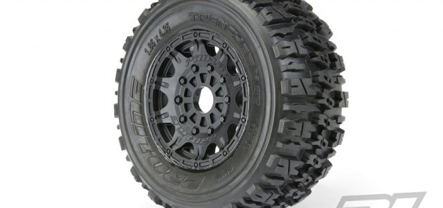 Pro-Line Trencher X SC 2.2″/3.0″ Tires Mounted On Raid Black 17mm Wheels