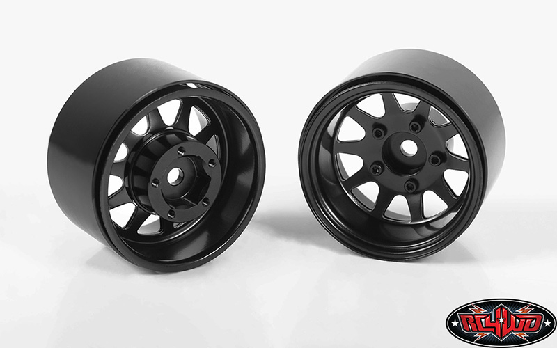 RC4WD Deep Dish Wagon 1.55 Stamped Steel Beadlock Wheels (Black)