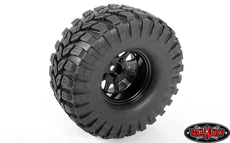 RC4WD Deep Dish Wagon 1.55 Stamped Steel Beadlock Wheels (Black)