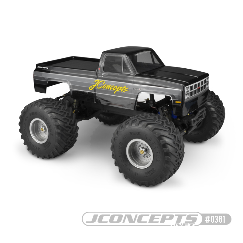 JConcepts 1982 GMC K2500 Clear Body