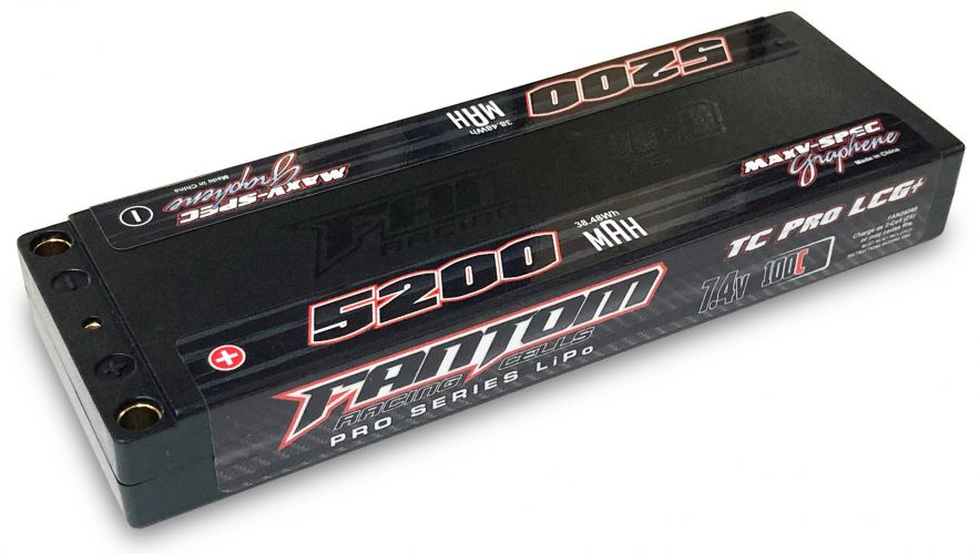 Fantom 5200mAh 100-160C, 7.4v Super Low Profile MaxV-SPEC Silicon Graphene LiPo