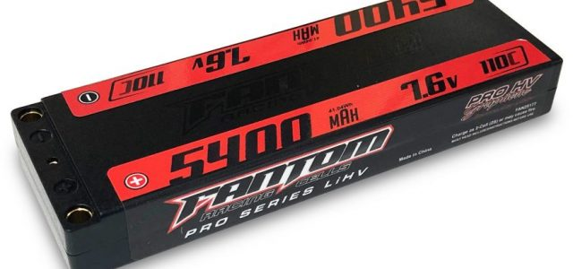 Fantom 5400mAh 110-160Cv 2S Super Low Profile Pro HV Silicon Graphene LiHV